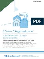 Barclay Card Benefits Brochure