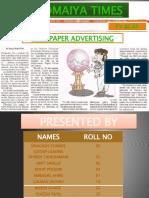 Newspaper Advt