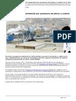 Callao, Emergencia Ambiental Por Presencia de Plomo y Cadmio en El Aire [SERVINDI][2017!10!25]