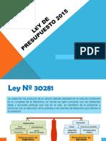 Ley de Presupuesto 2015