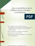 Criterios Cuantitativos de La Calidad de Los Estudios