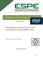 Partes Principales, Características Técnicas, Accesorios y Seguridades Del Brazo Robótico SCORBOT –ER 4pc.