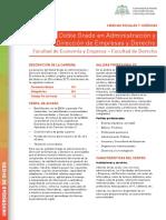Doble Grado en Administración y Dirección de Empresas y Derecho 2017