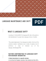 Language Maintenance and Shift
