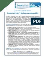 Google AdWords Meilleures Pratiques 2010