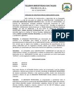 Contrato Privado de Construcción de Empujador Fluvial Xvi