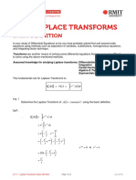 Laplace Transforms - Basic Definition
