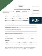 Registration Form Exact