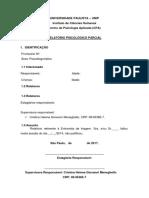 Modelo de Relatório de Falta Não Justificada- Psicodiagnóstico 2017