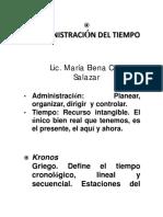Administración Del Tiempo Apuntes PDF