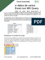 Consolidar Datos de Varios Libros de Excel Con MS Query