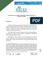 Considerações Sobre o Sistema de Garantia Dos Direitos Da Criança e Do Adolescente - SGDCA