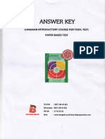 Answer Key Longman Introductory Paper Based Test