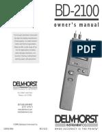 Delmhorst BD2100 User Manual