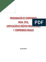 Pca, Certificacion de Creditos Pres y Compromisos Anuales
