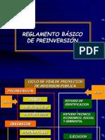 Reglamento Basico de Preinversión
