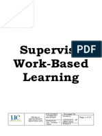 Supervise Work-Based Learning RATB