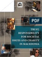 Trust Responsibility for Societal Issues and Charity in Macedonia