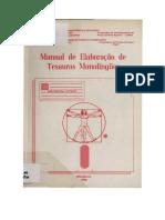 Manual de Elaboração de Tesauros Monolingues (1)