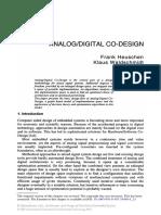 Analog Digital Codesign