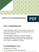 1 Perspective on Entrepreneurship