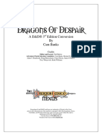 DL1 - Dragons of Despair 3e Conversion