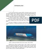Inti Gagasan Underwater Power Plants