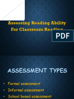 Assessing Reading Ability for Classroom Reading