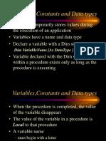 Variables (2)