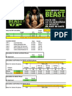 BEAST Food Plan Calculator