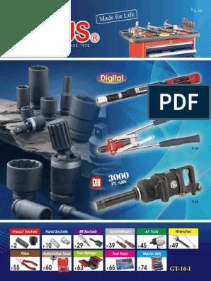 """- 629546 Genius Tools 3//4/"""" Dr CR-Mo 46mm Deep Hand Socket"""