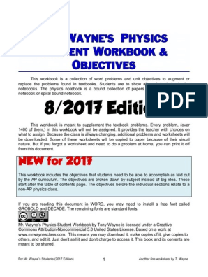 Physics Student Workbook | Magnetic Field | Waves
