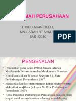 MAHKAMAH PERUSAHAAN
