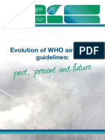 WHO Evolution Air Quality