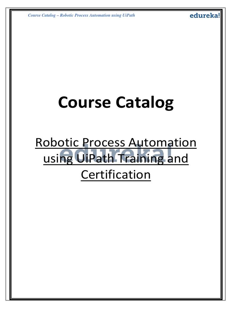 uipath catolog | Automation | Business Process