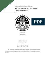 Manajemen Keuangan Dalam Bisnis Internasional