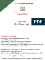 L4-First Order Logic