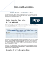 Exception Class to Use Messages From T100