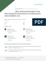 Anti DiabeticeffectofMurrayakoenigiiLandOleaeuropaea (1)