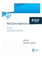 Retail Customer Segmentation using SAS