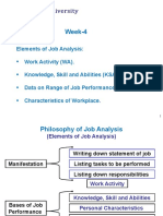 Elements Job Analysis