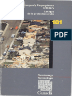Lexique de la protection civile / Emergency preparedness glossary