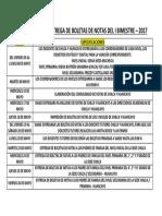Cronograma IV Bimestre 2017