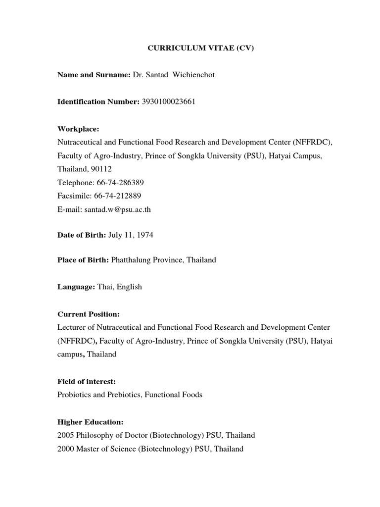 santad w | Thailand | Doctor Of Philosophy