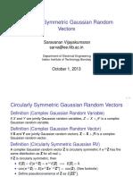 Circular Ly Symmetric Gaussian