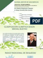 Clasificación Climática (Hargreaves y Budyko)_GONZALES ERIKA