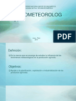 Agrometeorología Espinoza Esteban