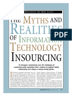 The Myths of Insourcing