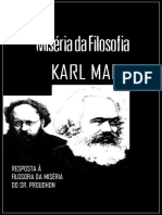 MARX, Karl_Miséria Da Filosofia