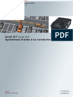SSP 635 Audi Q7 (type 4M) Systèmes d'aide à la conduite